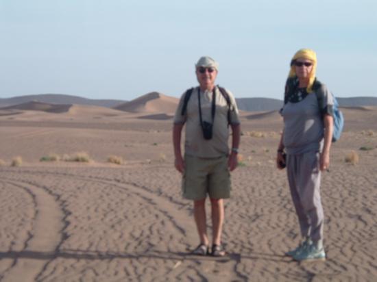 Dans une balade aux dunes de Boudib