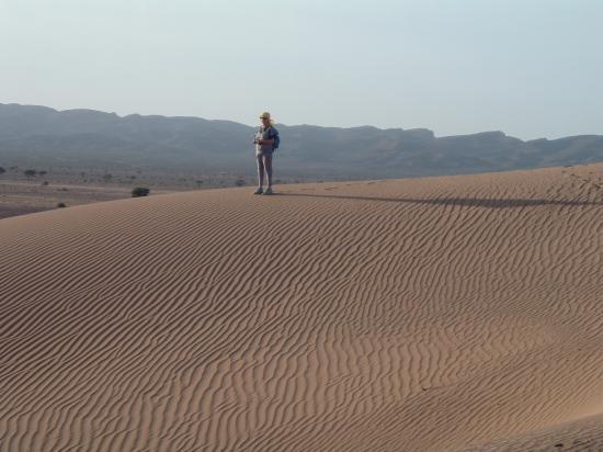 Marie Noelle Divole sur les dunes de Boudib !